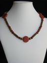 Red and Brown Necklace